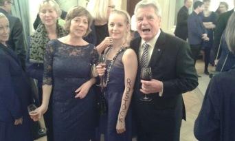 derzeitige Bundespräsident Joachim Gauck und seine Lebensgefährtin Daniela Schadt beim Empfang im Schloss Bellevue Berlin