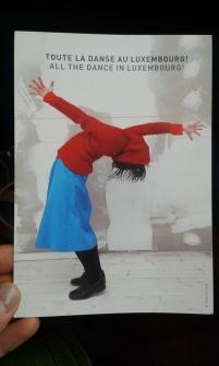 Postkarte Tanzzentrum Luxembourg