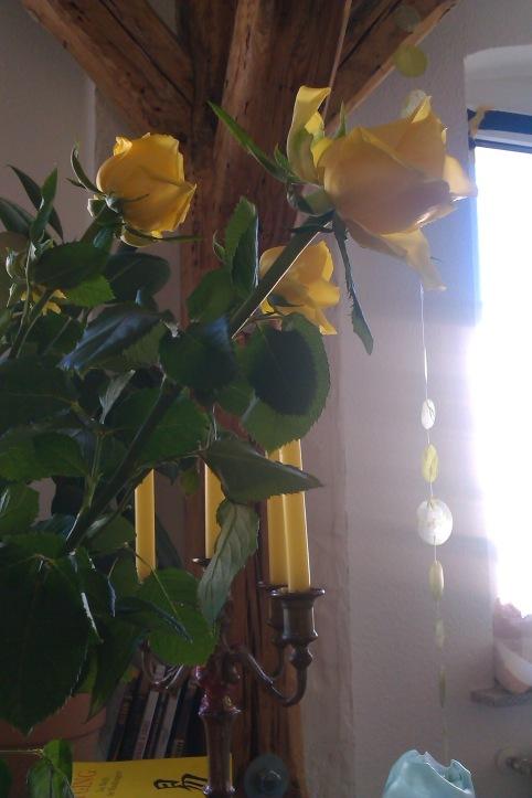 Weisheitsbuch I Ging mit Rosen und Kerzen