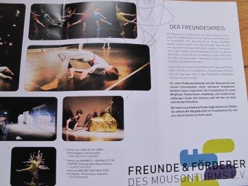Leporello des Fördervereins Mousonturm Frankfurt