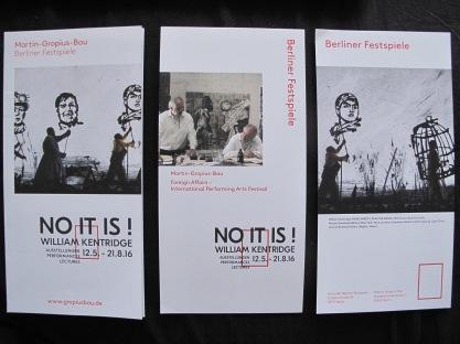 Liporello der Ausstellung Wiiliam Kendrige, Martin Gropius Bau Berlin