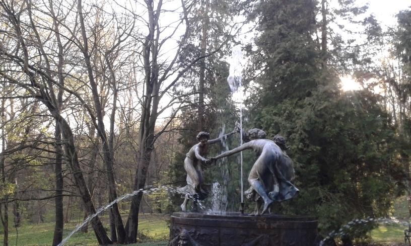 """""""Nymphenbrunnen"""" Walter Schott, Schloss Schlitz Hohen Demzin"""