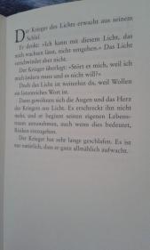 """aus """"Handbuch des Kriegers des Lichts"""" von Paulo Coelho"""