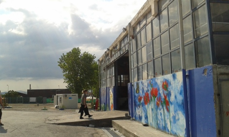 Warehouse_ residence for refugees in Oinofyta, Greece