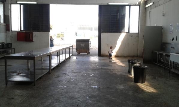 kitchen in Oinofyta refugee camp