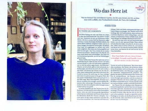 """Teresa Lucia im Interview für """"Das Magazin"""" über ihre Arbeit mit der NGO """"I AM YOU"""" // Tanz & Choreographie"""
